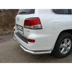 Защита задняя (уголки двойные) Lexus LX570 2012-